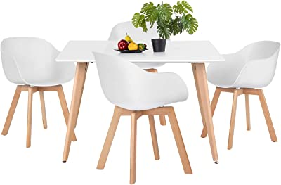Homy Casa Dining Room Set 1 Rectangular Table and 2 Chairs Industrial Style Vintage Reto Wood Metal Frame