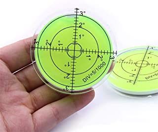 1Pc Bubble Level Measuring Tools Round Bubble Spirit Levels Circular Bullseye Bubble Degree Marked Surface Leveling for Camera Tripod Frame Furniture Measuring Instruments Layout Tools 60x12mm