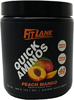 BCAA Energy Powder. Essential Amino Acids Supplement for After Workout Recovery. Quick Aminos by Fit Lane Nutrition 40 Ser...