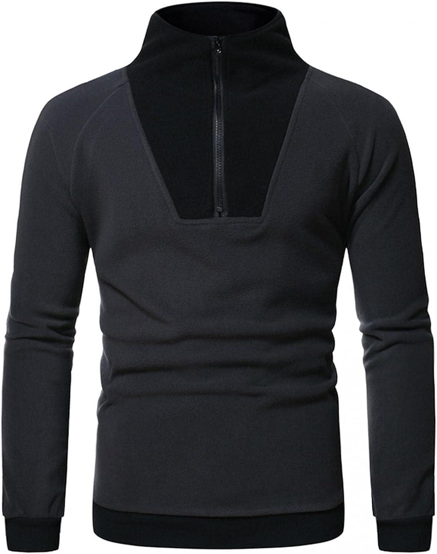 Sweatshirts for Men,Fashion Long Sleeve Sport Pullover Half-Zip Athletic Hoodies Gym Sweatshirts Blouse Tops