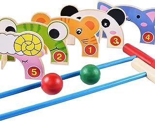 B bangcool Educational Toys Set Including Door Balls Croquet Set Interactive Toys for Kids