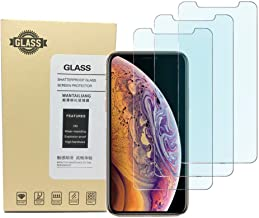 Kione iPhone Xs Max Screen Protector, Anti Blue Light Screen Protector [ Eye Protect ] [ Touch Screen Accuracy ] [Bubble Free] Tempered Glass for iPhone XS Max [3 Pcs]