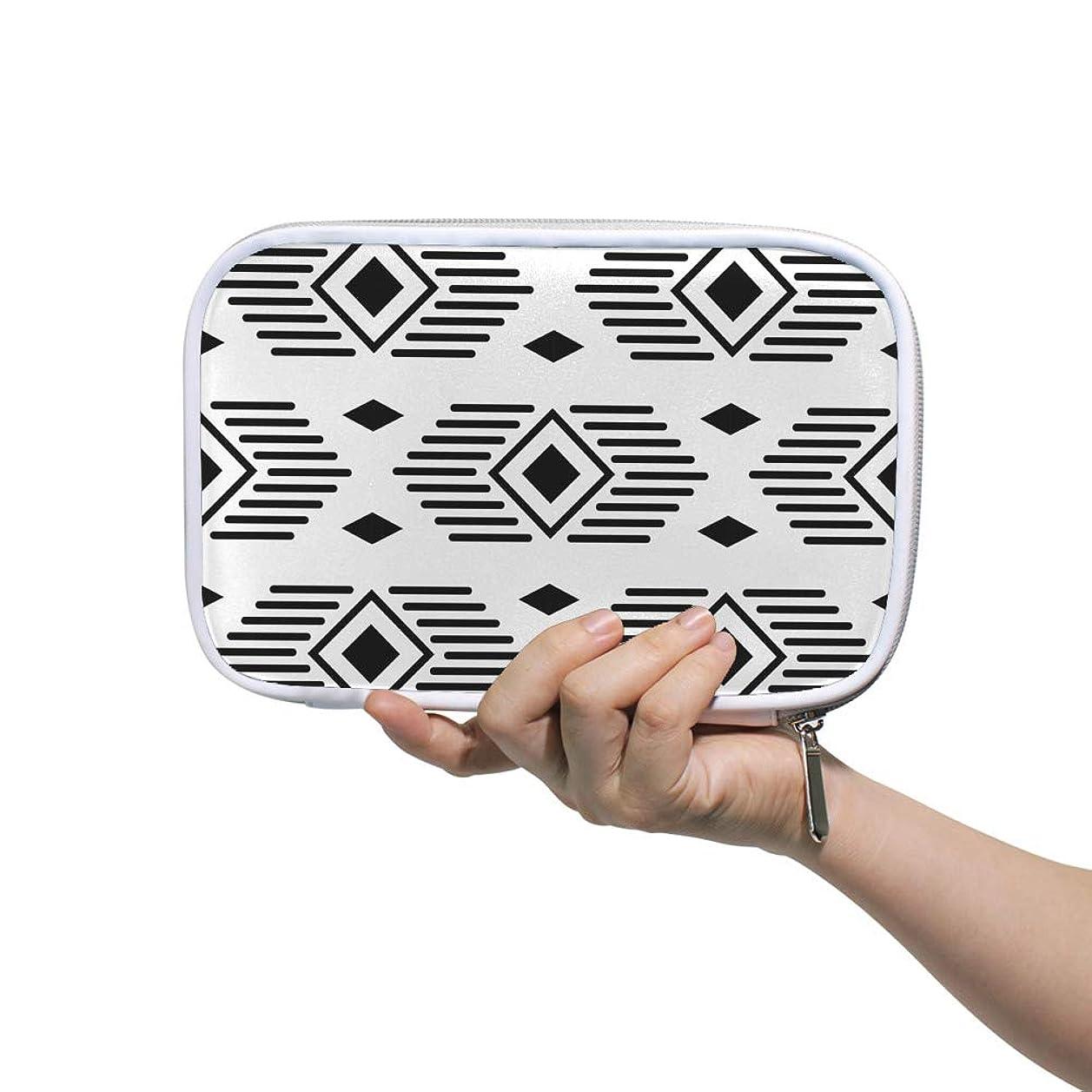 過剰効能ある新しさZHIMI 化粧ポーチ メイクポーチ レディース コンパクト 柔らかい おしゃれ コスメケース 化粧品収納バッグ 綺麗な幾何学柄 機能的 防水 軽量 小物入れ 出張 海外旅行グッズ パスポートケースとしても適用