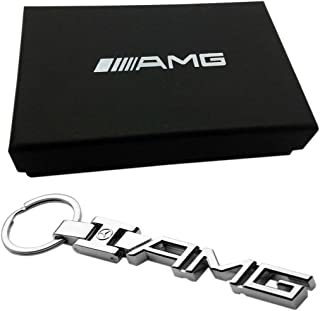 Deselen - LP-BS17KC01 - Car Key Chain for Mercedes Benz AMG, Mirror Polished Stainless Steel Construction