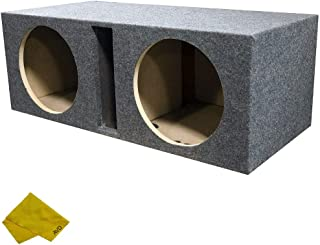 """$74 » Pipeman 12"""" Dual Slot Ported Subwoofer Enclosure - Universal Fit Dual Vented Carpeted Car Stereo Case Sub Box"""