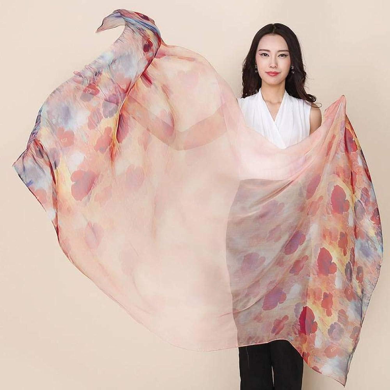 Ladies Silk Scarves Printed Beach Towel Shawl Scarf Hqysjin