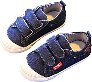 a815c858c552 BININBOX Kids Canvas Shoes Breathable Casual Sneakers for Boys Girls