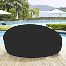 """75"""" Heavy Duty 420D Waterproof Daybed Cover Outdoor Round Canopy Day Bed Sofa Cover Patio Furniture Cover UV Weather Resis..."""