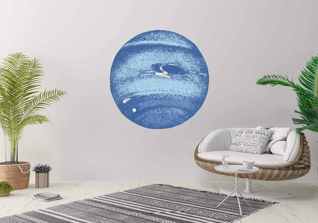 Neptune Planet Space Wall Vinyl Courier shipping free shipping Sticker Decal online shop Deco Art Mural Car