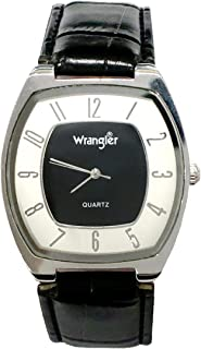 Official Wrangler Limited Edition Mens Watch Modern Design 2 Tone Dial Stainless Band Japanese Quartz with Warranty