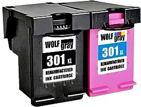 Wolfgray 301XL Remanufacturado para HP 301 XL 301 Cartuchos de tinta (1 negro, 1 tricolor) para HP Deskjet 2544 1010 2540 1510 2510 2050 1050 3055A 3050A 3000, Envy 4500 5530 5532, Officejet 4630 4634