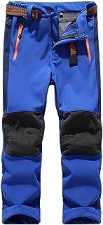 CATERTO Girls/Boys Fleeced Snow Hiking Pants Water Repellent Windproof Outdoor Sports Softshell Winter Pants