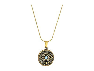 Alex and Ani Evil Eye Expandable Necklace (Rafaelian Gold) Necklace