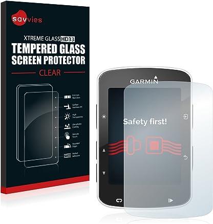 Savvies Protector Pantalla para Garmin Edge 820 Cristal Templado - Dureza 9H