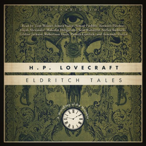 Eldritch Tales     A Miscellany of the Macabre              By:                                                                                                                                 H. P. Lovecraft                               Narrated by:                                                                                                                                 various narrators                      Length: 20 hrs and 8 mins     49 ratings     Overall 4.3