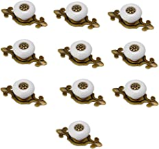 Mooi leven* 10 stuks kastgrepen deurknoppen kastknoppen meubelknoppen set meubelgreep keramiek (wit)