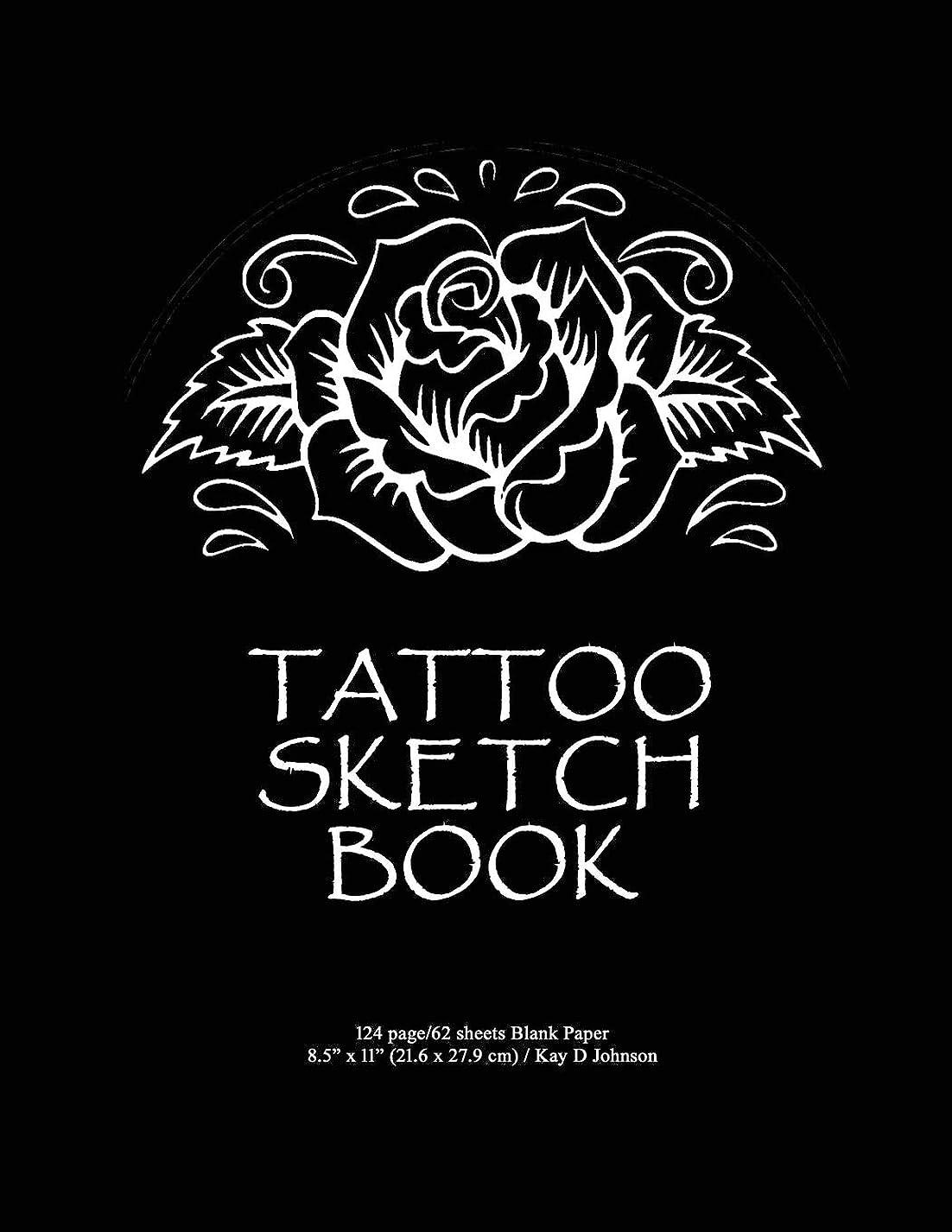 実験室発症誠意Tattoo Sketch Book: Large space blank book perfect for sketching tattoo designs.