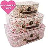 Sass & Belle Lot de 3 valises de rangement
