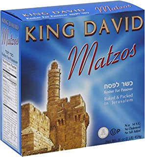 Matzo Passover Matzah Israeli Kosher For Passover King David Matzos One Pound Box (1 LB Box)