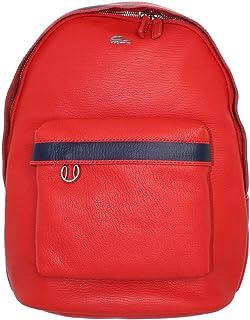 c568ca550a Lacoste - Sac à dos Backpack en cuir ref_cem40584 968 Rouge