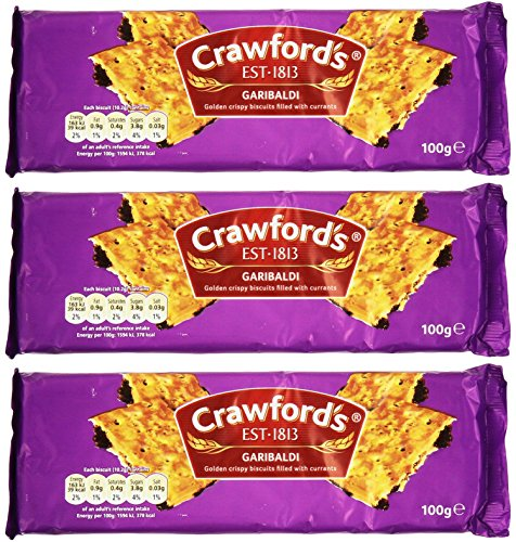 Crawford's Garibaldi Biscuits 100g (Pack of 3)