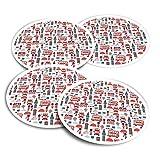 Pegatinas de vinilo (juego de 2) 10 cm – Londres Icons Inglaterra Tourist Bus Fun Calcomanías para portátiles, tabletas, equipaje, reserva de chatarra #14506
