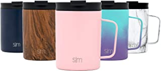 Simple Modern 12oz Scout Coffee Mug Tumbler - Travel Cup for Men & Women Vacuum Insulated Camping Tea Flask with Lid 18/8 Stainless Steel Hydro -Blush