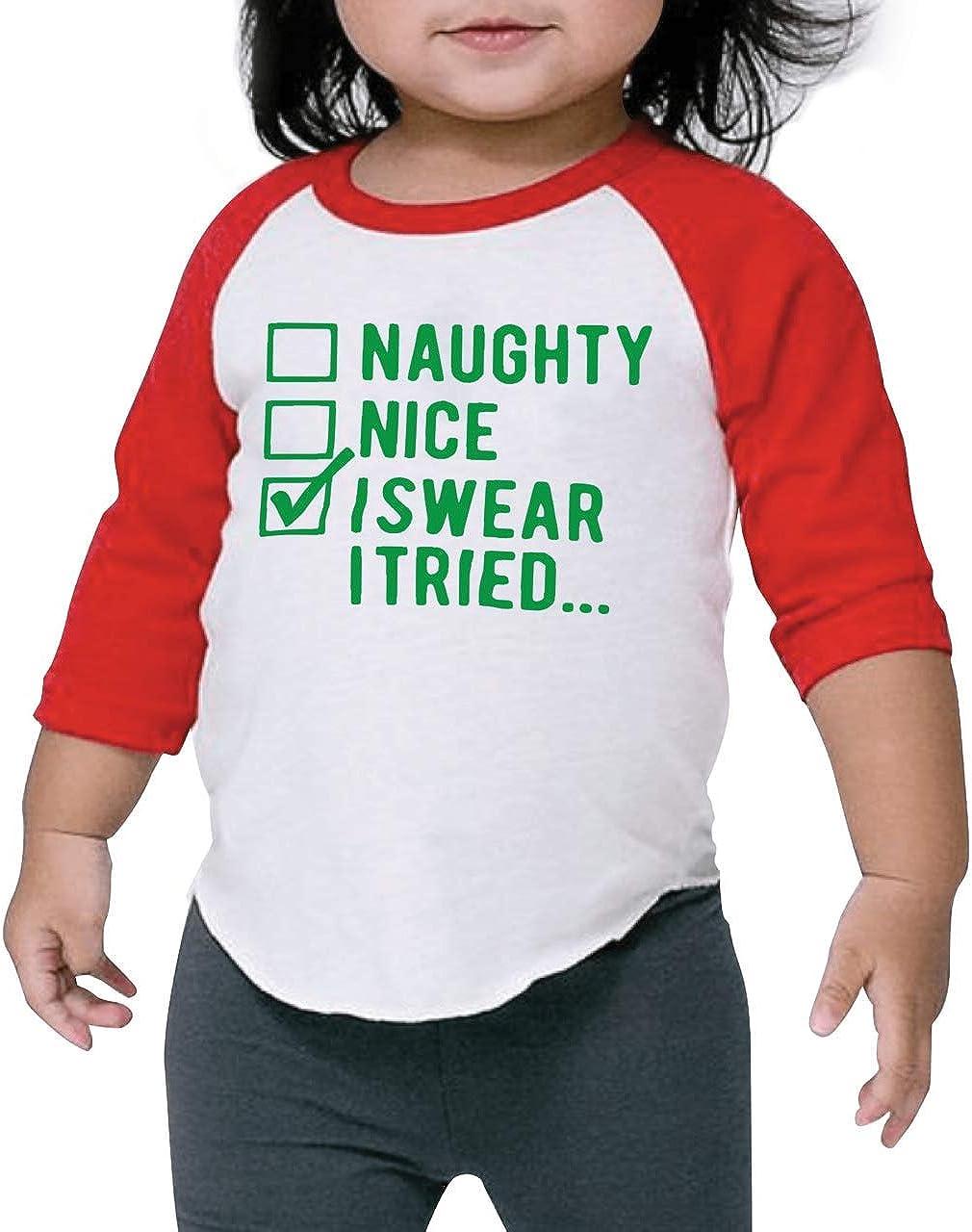 Kids Christmas Shirt for Boys and Girls, Naughty or Nice