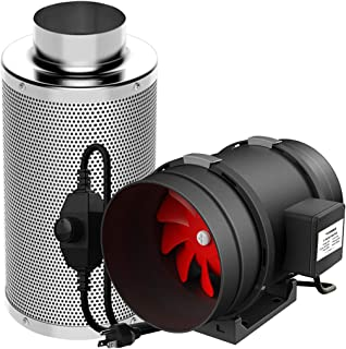 VIVOSUN 8 Inch 720 CFM Inline Duct Fan with 8 Inch Carbon Filter Odor Control with Australia Virgin Charcoal