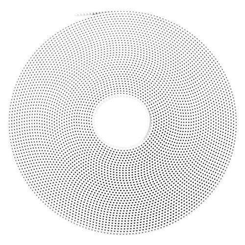 SALUTUYA White GT2 Open Synchronous Belt, 6mm Width 5 Meter Length, Pulleys Wheel Belts,(10M)