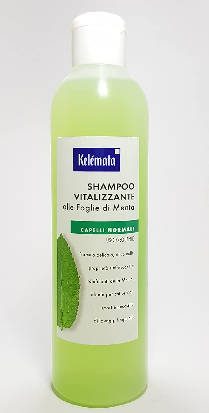 ミントの葉にケレマタシャンプーvitalizzante、透明– 250 ml