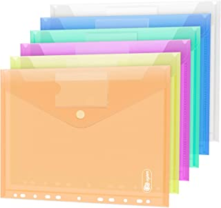 24 Pochette Porte-Document A4 Fermeture - 6 couleurs pochettes pour documents A4 pochette pour portefeuilles pour classer ...