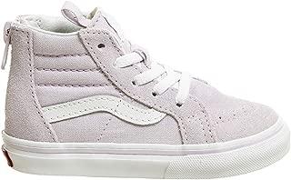 VN-0A32R3UJM: Boys SK8-HI Zip Lavender Fog/True White Sneakers (10 M US Toddler)