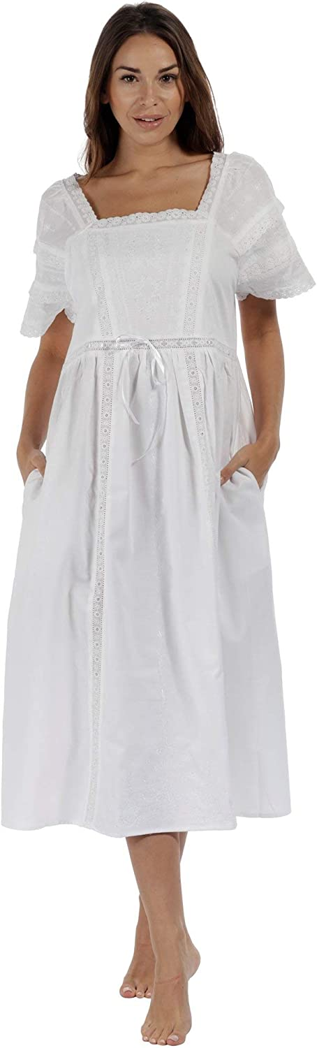 The 1 for Bargain Max 88% OFF U Nightgown 100% Women's Style Cotton Victorian N