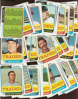 1974 Topps Traded Baseball Series Series Complete Hand Collated Set in Excellent (Not Mint) Condition
