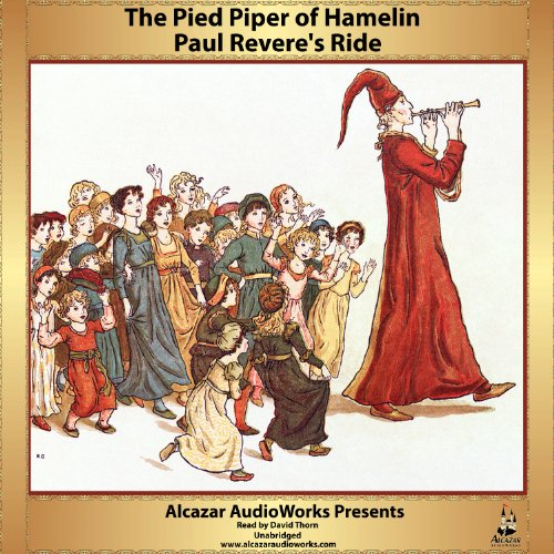 Paul Revere's Ride and The Pied Piper of Hamlin audiobook cover art
