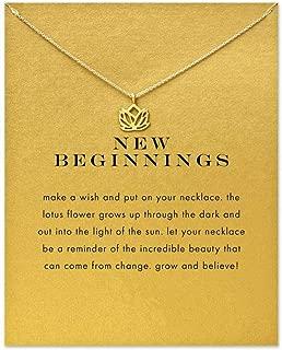 Best gold lotus flower pendant necklace Reviews