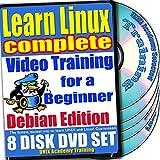 Aprenda Linux para un Aprenda Linux completo para un Video de entrenamiento para principiantes y Cuatro Bundle exámenes de certificación. Debian Edition. 8-disco DVD Set, Ed.2011