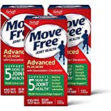 Glucosamine & Chondroitin Plus MSM Advanced Joint Health Supplement Tablets, Move Free, Pack of 3 boxes (120 Count In A Box), Supports Mobility, Flexibility, Strength, Lubrication and Comfort*