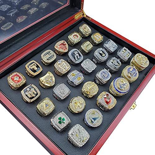 Fei Fei NBA 1990-2019 Championship Ring Collection of Previous Championship Teams Anillos de Campeonato, Campeones del Super Bowl Anillo de réplica,with box11