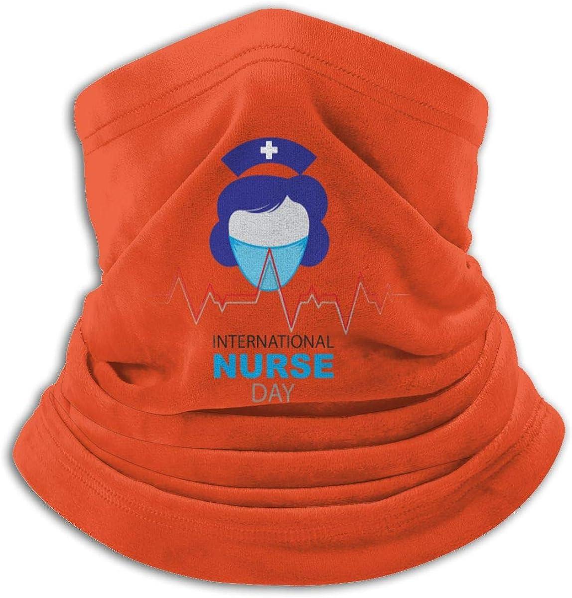 Nurse Day Black Multi-function Neck Warmer Gaiter Polyester Neck Warmer Windproof Winter Neck Gaiter Cold Weather Scarf For Men Women