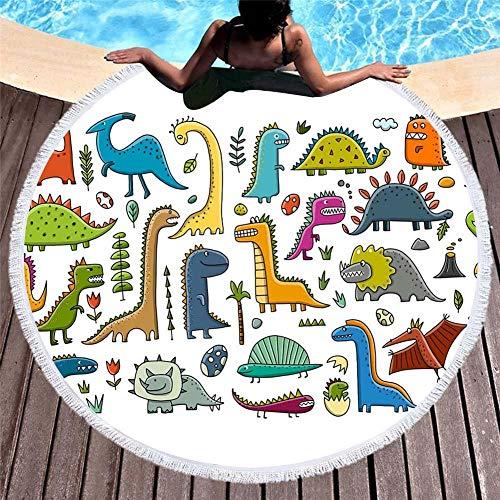 Vanzelu strandhanddoek zonder zand, Cartoon Beach handdoek, Microvezel Plus kwastje zacht, 150X150Cm