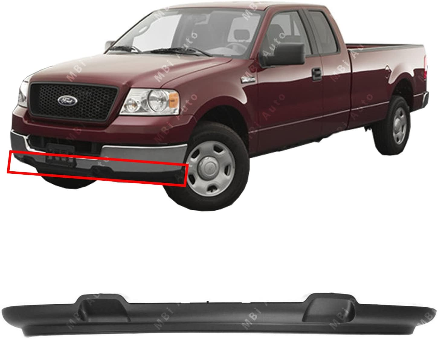 Amazon Com Mbi Auto Textured Black Front Lower Valance Air Deflector For 2004 2005 Ford F150 Pickup 04 05 Fo1095205 Automotive