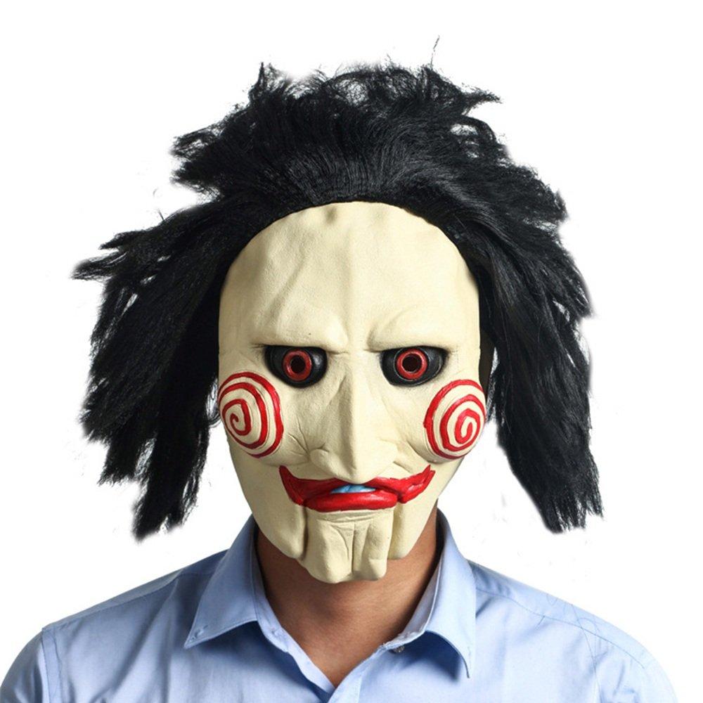 WYDM Halloween Carnival Bar Performance Supplies Chainsaw Fright Latex Peluca máscara de la Cabeza: Amazon.es: Hogar