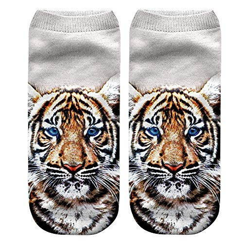 Calcetines, Casual Animal Giant Panda Tiger 3D Cute Print Medianos Calcetines Deportivos Mujer Unisex, Ropa...