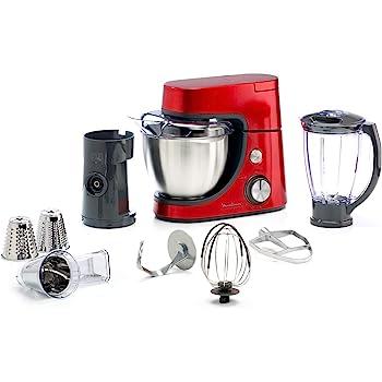 Moulinex QA512G10 - Robot de cocina (4,6 L, Rojo, Acero inoxidable, 1100 W, 7 pieza(s)): Amazon.es: Hogar