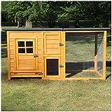 zooprinz Hühnerstall XL - modernes Hühner Gehege aus Vollholz - Kleintierstall Hühnervoliere für...