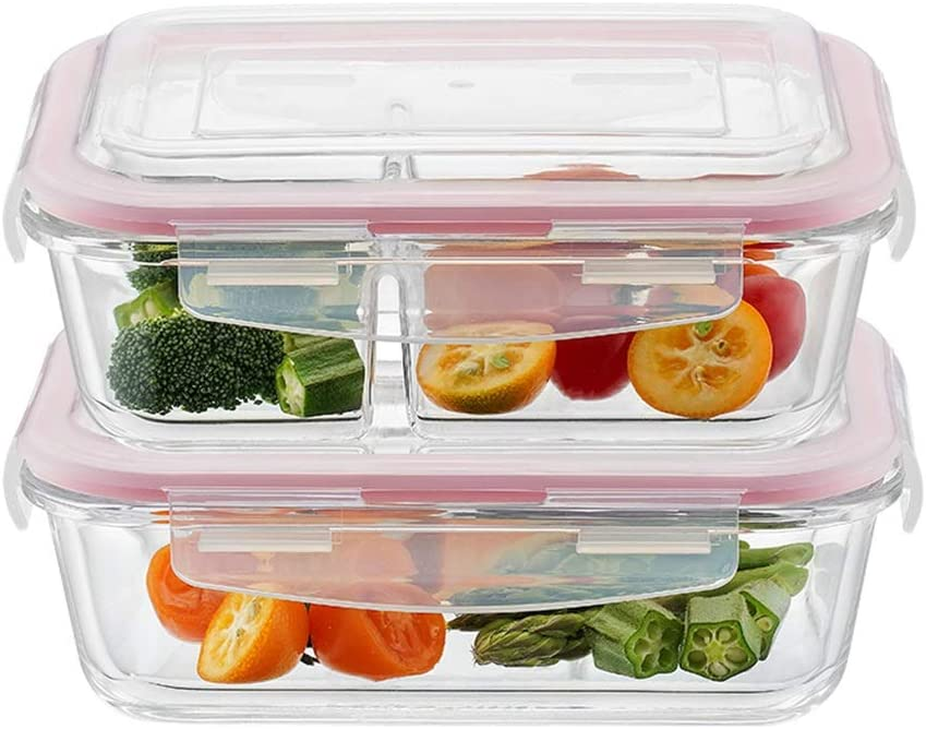 Low price GXYAWPJ Glass Bento Box Airtight Containers Max 57% OFF Lids with Food