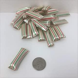 Old Fashion Chocolate Mint Straws 1 pound red green white striped
