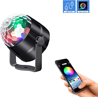 LEDBLE Disco Ball Light Bluetooth Mobile APP Control, Sound Activated USB Disco Light with Timer Led Disco Lights for Parties Room Car Kids Dance Karaoke Dj Show Club Bar Pub